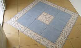 Mediterranean tile floor with original, stylish pattern