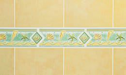 Kids shower with beach accent tile